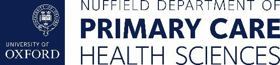 Nuffield Dept of Primary Care Health Sciences