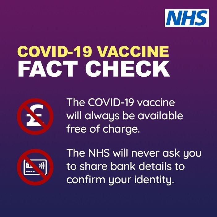 NHS COVID-19 Vaccination Scam Warning